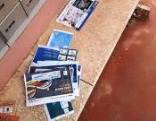 כרמיאל: הדואר הושלך על ספסל לצד התיבות