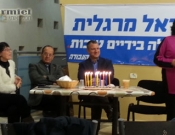 מפגש עם חבר הכנסת אראל מרגלית בכרמיאל בנוכחות ראש עיריית כרמיאל עדי אלדר וסגניתו שולה כהן