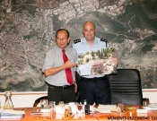 """מועצת העיר נפרדת ממפקד תחנת המשטרה בכרמיאל נצ""""מ שאול צמח"""